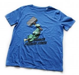 Tričko HSF design Hulk modré