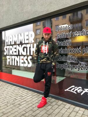 Mikina HS Fitness maskáčová pánská