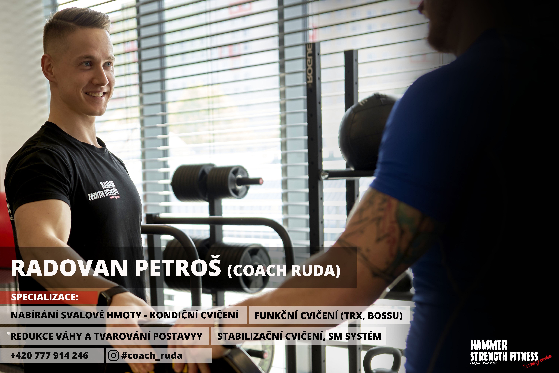 Radovan Petroš hammer strength fitness praha prague trenér osobní dieta svaly gym